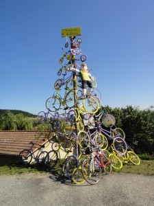 Sculpture de vélos